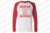 Christmas Sweater, Set of 4 templates plus alphabet ,svg bundle, Ugly Christmas Sweater
