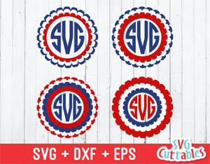 Fourth of July Monogram Frame, July 4th