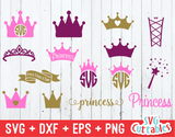 Princess Crown, Princess Monogram, Wand
