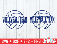Split Volleyball, Volleyball svg cut file