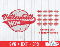 Volleyball Mom, set of 16 family names