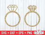 Wedding Rings Set of 2   | SVG Cut File