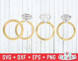 Wedding Rings  | SVG Cut File