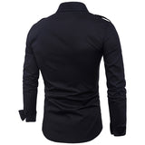 Full Sleeve Solid Pattern Polyester Cotton Fabric Shirt For Men - Black