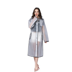 Solid Pattern Nylon Fabric Raincoat For Women - A1