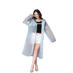 Solid Pattern Nylon Fabric Raincoat For Women - A2