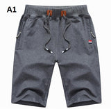 Elastic Waist Closure Polyester Spandex Cotton Fabric Shorts For Men