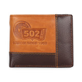 Genuine Leather Solid Pattern Soft Material Composition Fashion Style Short Standard Wallet- A1