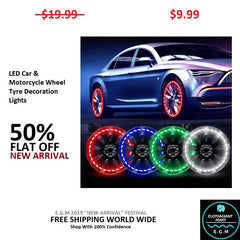 Buy LED Car Motorcycle Wheel Tyre Decoration Light - Elephagiantmart.com