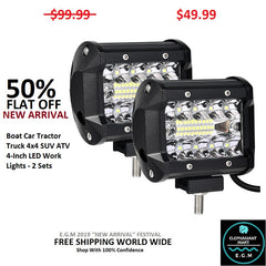 Buy Boat Car Tractor Truck LED Work Lights - Elephagiantmart.com