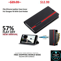 Buy Flip Leather Case Cover For Doogee Y8 - Elephagiantmart.com