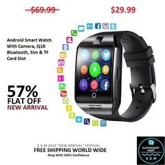 Buy Android Smart Watch W/Camera Bluetooth Sim TF Card Slot - Elephagiantmart.com