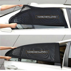 2Pcs Car Curtain UV Protection Sunshade Shield Window Cover Protector