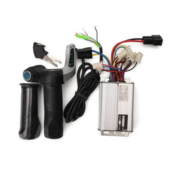 48V 1000W Electric Bike Motor Scooter Speed Controller With Throttle Twist Grips