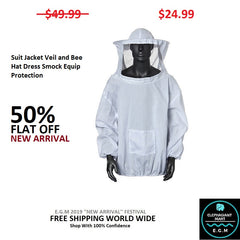 Suit Jacket Veil and Bee Hat Dress Smock Equip Protection