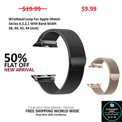 Buy Wristband Loop For Apple iWatch 4,3,2,1 - Elephagiantmart.com
