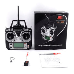 Flysky FS-T6 FS T6 6ch 2.4g With LCD Screen RC Transmitter + FS R6B Receiver For RC Helicopter, Quadcopter, Airplanes Drones.