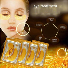 10packs Eye Care Treatment & Mask Gold Crystal Collagen Skin Care, Eye Patches Dark Circle Whitening Face Mask