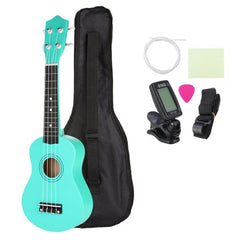 21 Inch Basswood Soprano Ukulele with Gig Bag Tuner