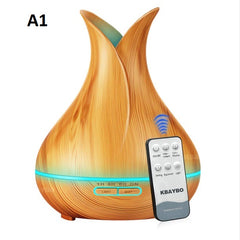 Ultrasonic Air Humidifier With Wood Grain 7 Color Changing LED Lights For Home & Office