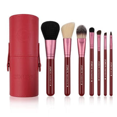 Powder, Foundation, Contour, Angled Brow, Lip Makeup Brush Set