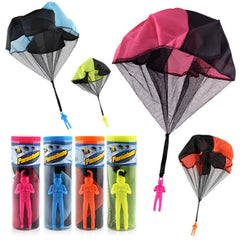 Kids Outdoor Educational Hand Throwing Parachute Toy With Soldier Doll 4Set/Lot