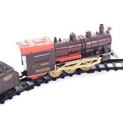 Kids Educational Classic Electric Smoking Assembling Track With Sound Steam Train Gift Toys