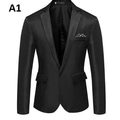 Single Button Pocket Decoration Men Blazer Jacket Suit.