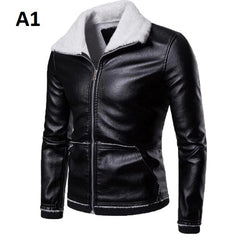 Conventional Cuff Polyester Cotton Fabric Zipper Closure Men Jacket.