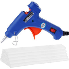 Hot Melt Glue Gun with 30pc 7mm*200mm Glue Sticks with Thermo Electric Heat Temperature