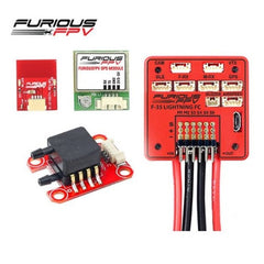 FuriousFPV F-35 Lightning Flight Controller + AirSpeed Sensor + GPS Module + Bluetooth Module For RC Models.