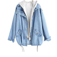 Turn Down Collar Solid Pattern Pocket Button Decoration Women Jacket.