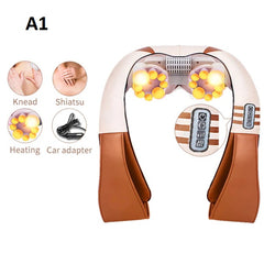Infrared U-Shape Electrical Back Neck Shoulder Body Massager.