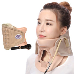 Adjustable Inflatable Cervical Neck Stretcher Collar Spine Traction Massage Therapy Device