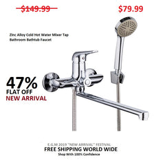 Zinc Alloy Cold Hot Water Mixer Tap Bathroom Bathtub Faucet