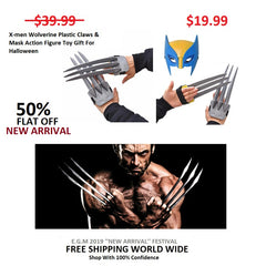 X-men Wolverine Plastic Claws & Mask Action Figure Toy Gift For Halloween