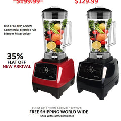 BPA Free 3HP 2200W Commercial Electric Fruit Blender Mixer Juicer
