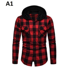 Plaid Pattern Broadcloth Cotton Polyester Fiber Fabric Men Shirt