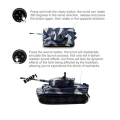 Mini Tiger Battle Remote Control Armored RC Tank Kids Toy