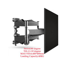"6 Swing Arms 32""-65"" LCD LED Retractable TV Bracket Wall Mount"