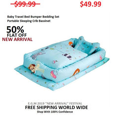 Baby Travel Bed Bumper Bedding Set Portable Sleeping Crib Bassinet