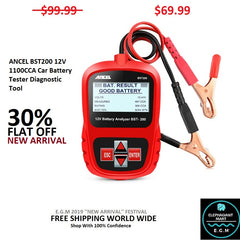 ANCEL BST200 12V 1100CCA Car Battery Tester Diagnostic Tool
