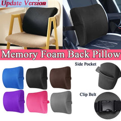 Lumbar Support Back Waist Cushion For Cars, Chairs Home Office