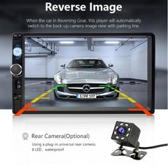 7-Inch Touch Screen Full HD 1080P Car DVD Mp5 Player With 8 LED Rear Camera & Bluetooth