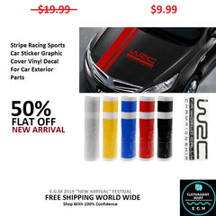 Stripe Racing Sports Car Sticker Graphic Cover Vinyl Decal For Car Exterior Parts