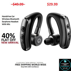 Handsfree Car Wireless Bluetooth Earphone Headset With Mic