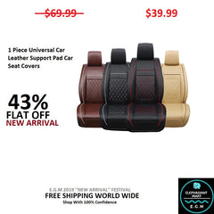 1 Piece Universal Car Leather Support Pad Car Seat Covers