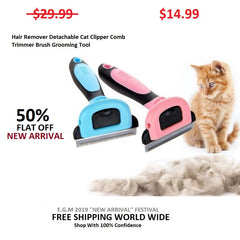 Hair Remover Detachable Cat Clipper Comb Trimmer Brush Grooming Tool