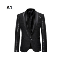 Single Button Decoration Cotton Polyester Fabric Men Blazer Suit