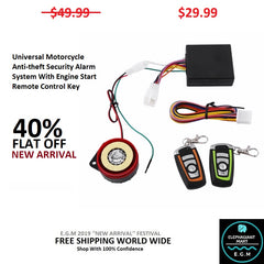 Universal Motorcycle Anti-theft Security Alarm System With Engine Start Remote Control Key